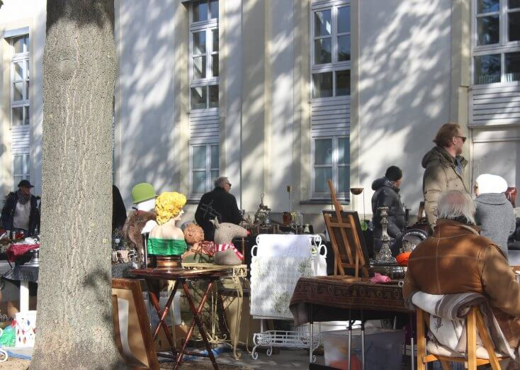 Germany's oldest flea market, Hanover, Germany