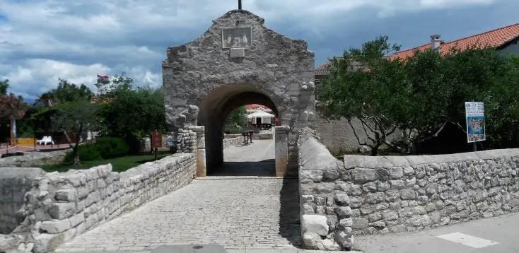The main gate to Nin, Croatia