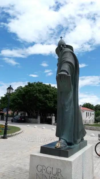 Statue of Bishop Gregory of Nin, Croatia