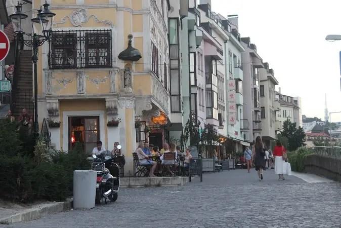 Street around the castle
