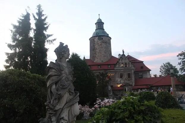 Castle Zamek Czocha and its garden