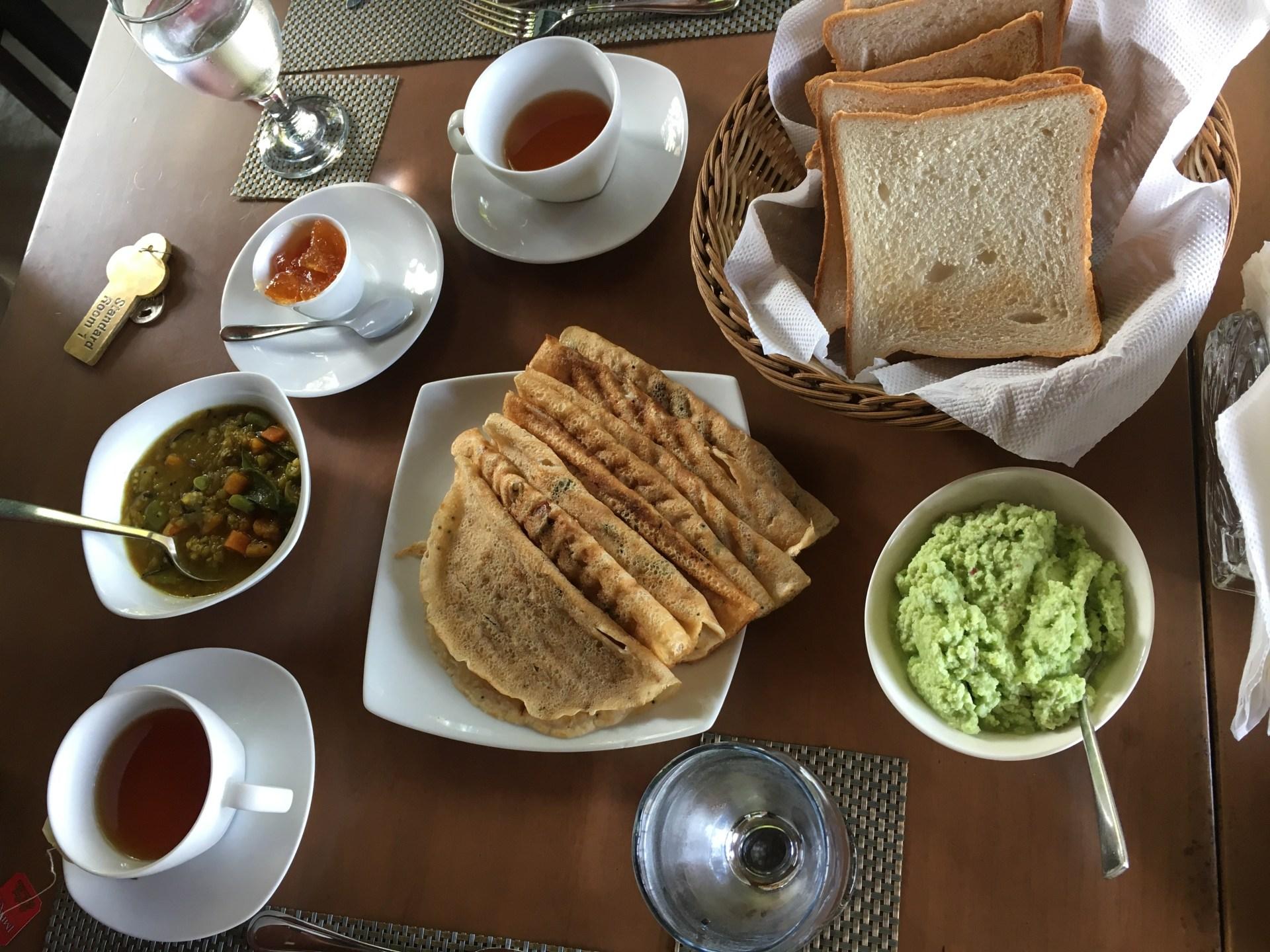 Sri Lanka, ontbijt, curry, eten en drinken