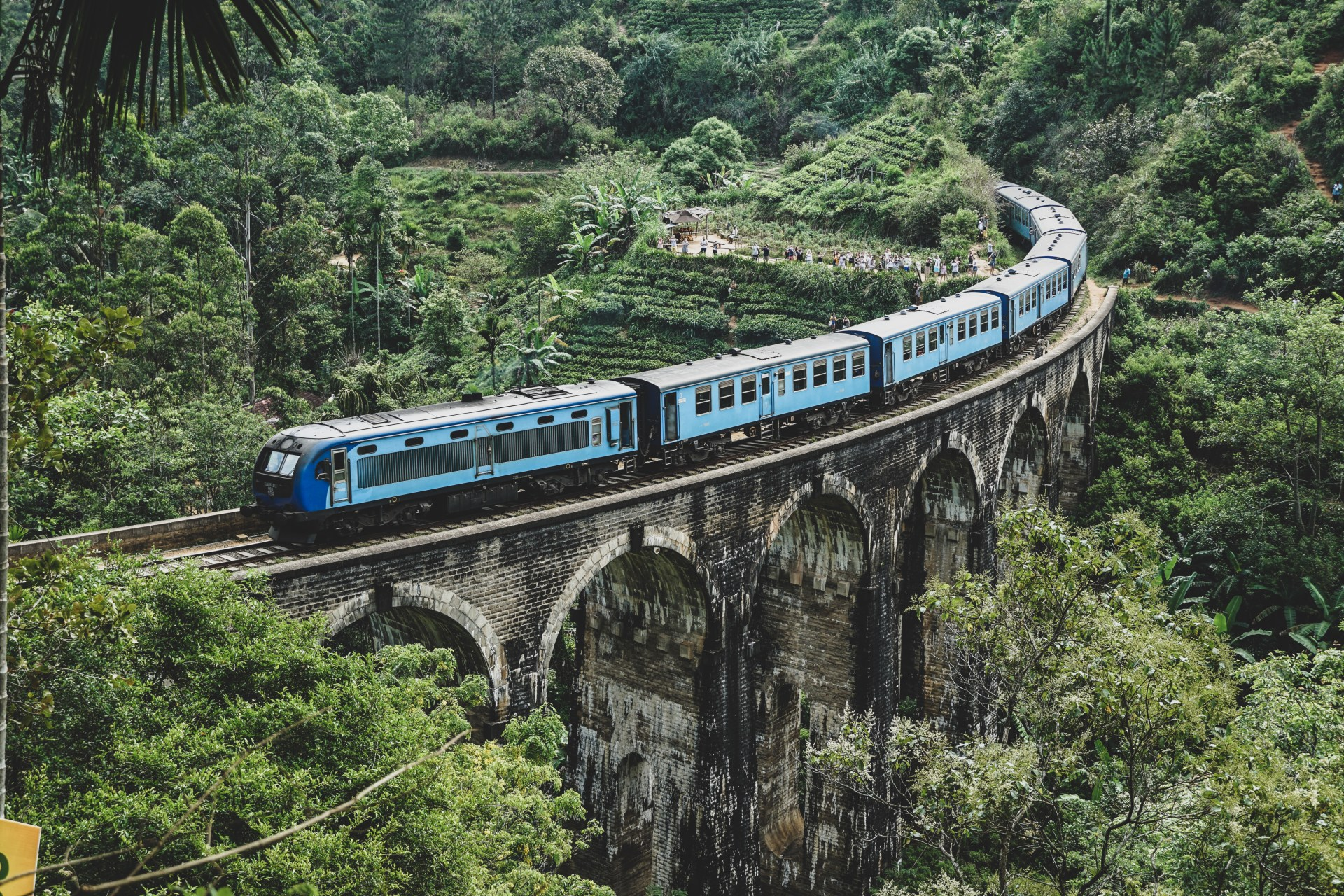 Sri Lanka, Nine Arches Bridge, trein Ella