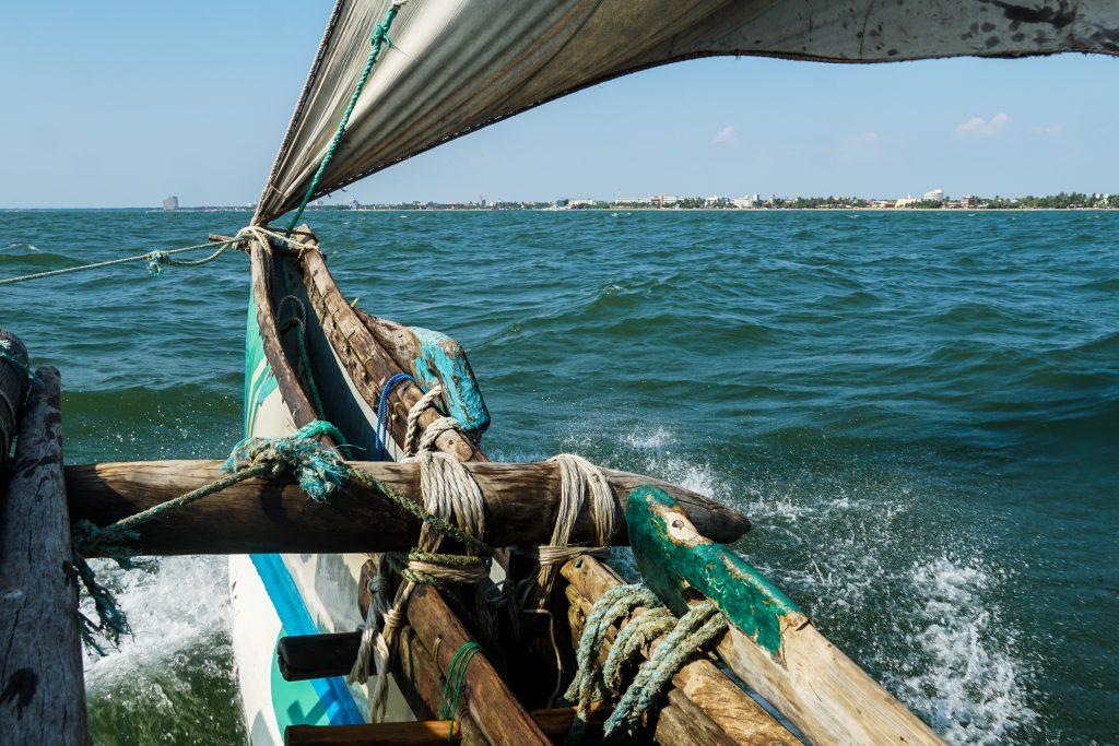 Negombo Catamaran tocht oceaan