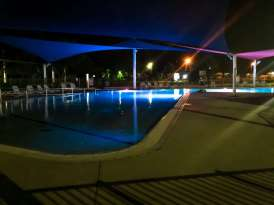 Big4 West Beach Holiday Park - pool at night