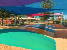Big4 West Beach - jumping pillow and waterpark