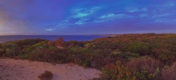 Sunset over Gleeson's Landing Beach - no filter