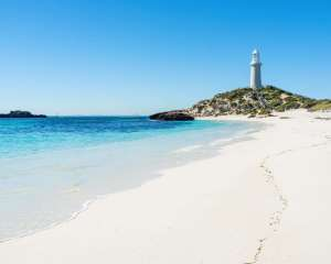 Pinky Beach, Rottnest Island, WA - one of Western Australia's most popular island beaches