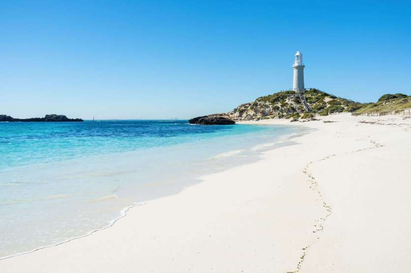 Pinky Beach, Rottnest Island, WA - one of Western Australia's most popular island beaches