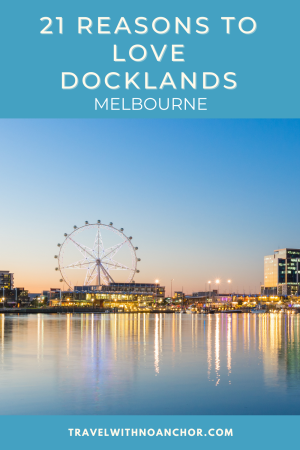 As a water lover, a visit to Docklands in Melbourne, Victoria is an absolute must! This waterfront location has become one of Melbourne's favourite places and for good reason! #melbourne #melbournetravel #melbournetravelguide #docklandsmelbourne