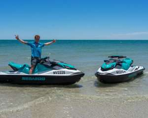 Jono on his Wild Ride Jet Ski Hire, West Beach, Adelaide