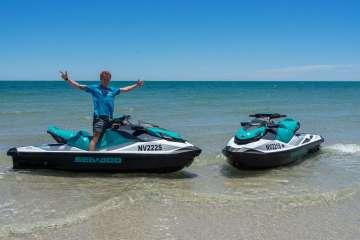 Jono on his Wild Ride Jet Ski Hire, West Beach, Adelaide
