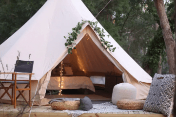 Bushland Bell Tent, Crafers, Adelaide Glamping, South Australia