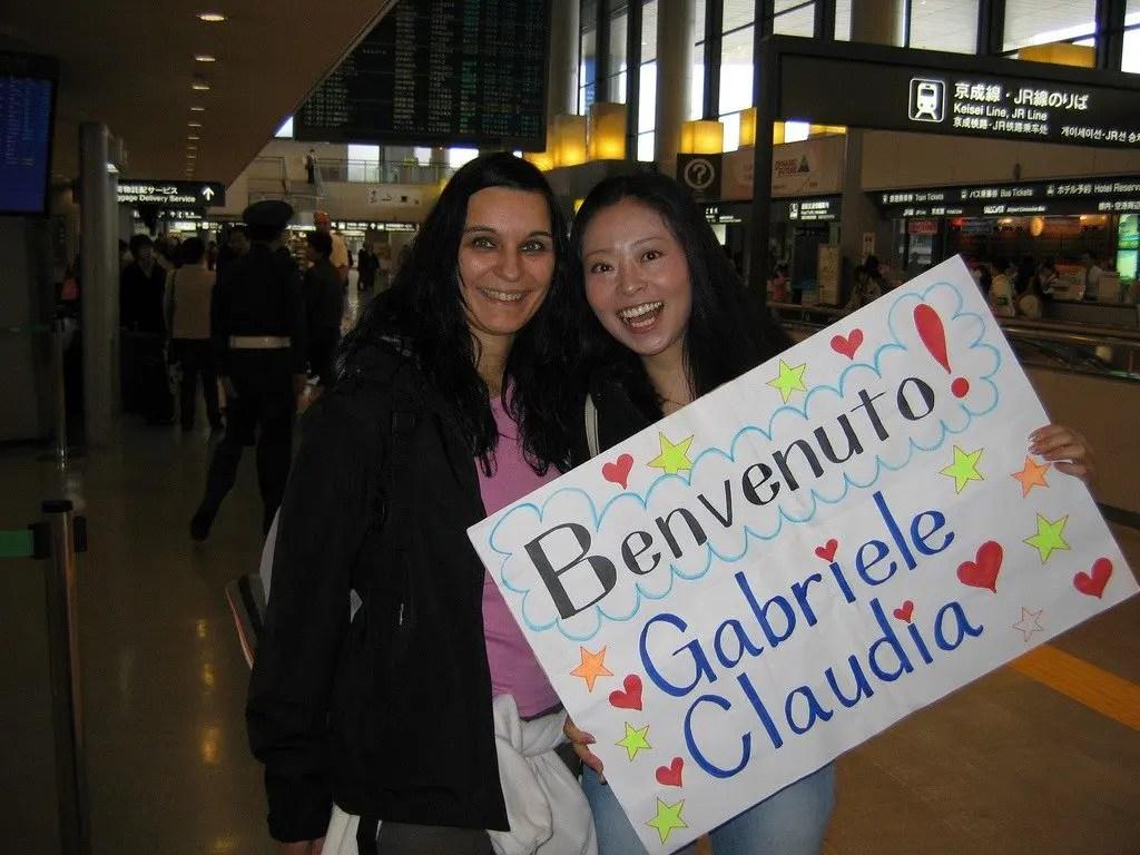 Claudia e Chiho benvenuto