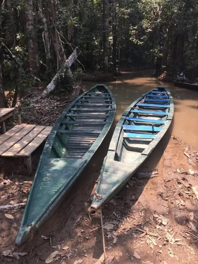 Canoe in Amazzonia