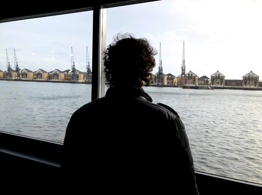 Vista sui docks di Londra