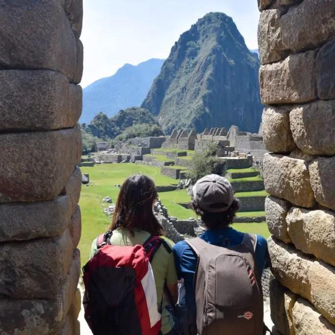 Guardando Machu Picchu