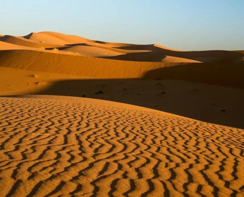 alba sulle dune in Marocco