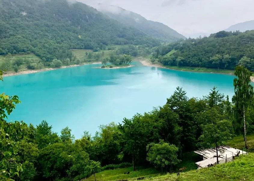 Panorama dal lago di Tenno