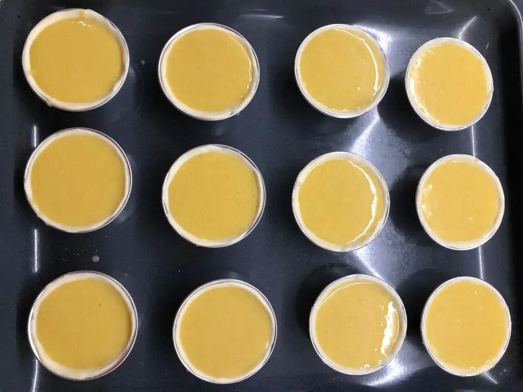 Pastel de Nata da cuocere