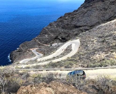 La strada per raggiungere il Poris de Candelaria