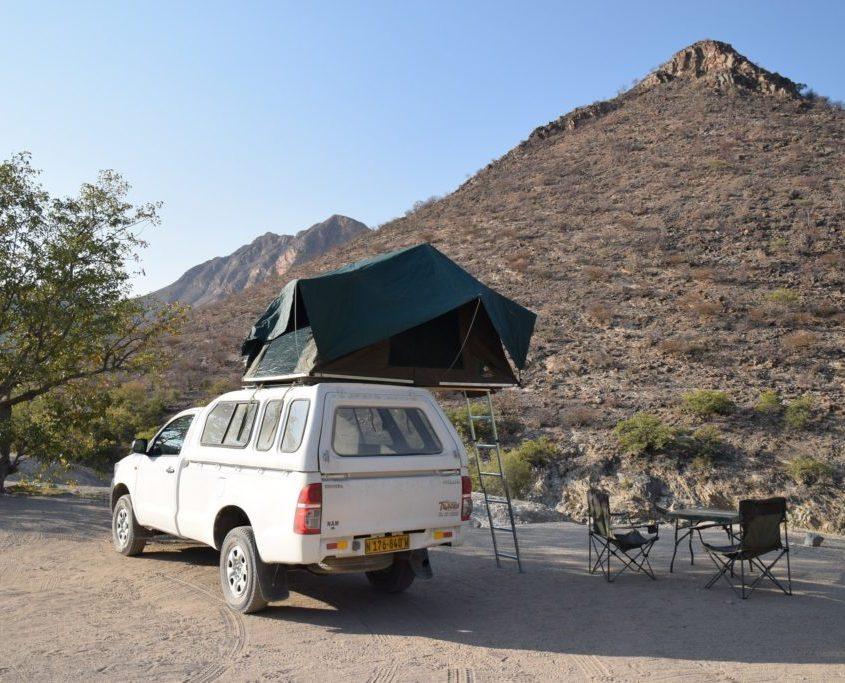 rooftop tent Namibia