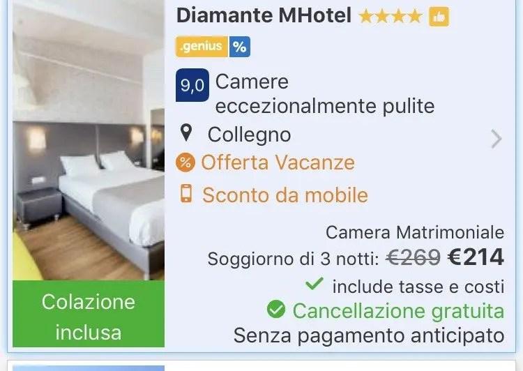 tariffa mobile booking