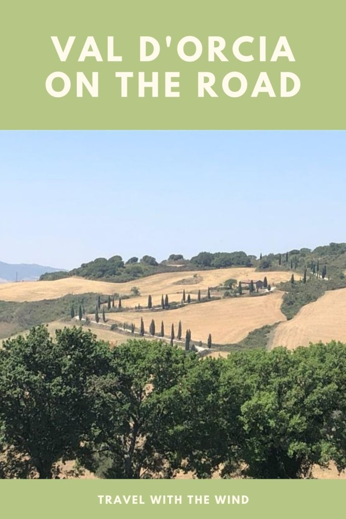 On the road in Val D'Orcia