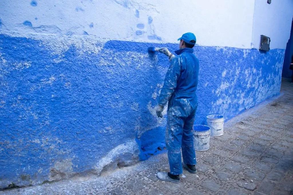 verniciamo di blu Chefchaouen