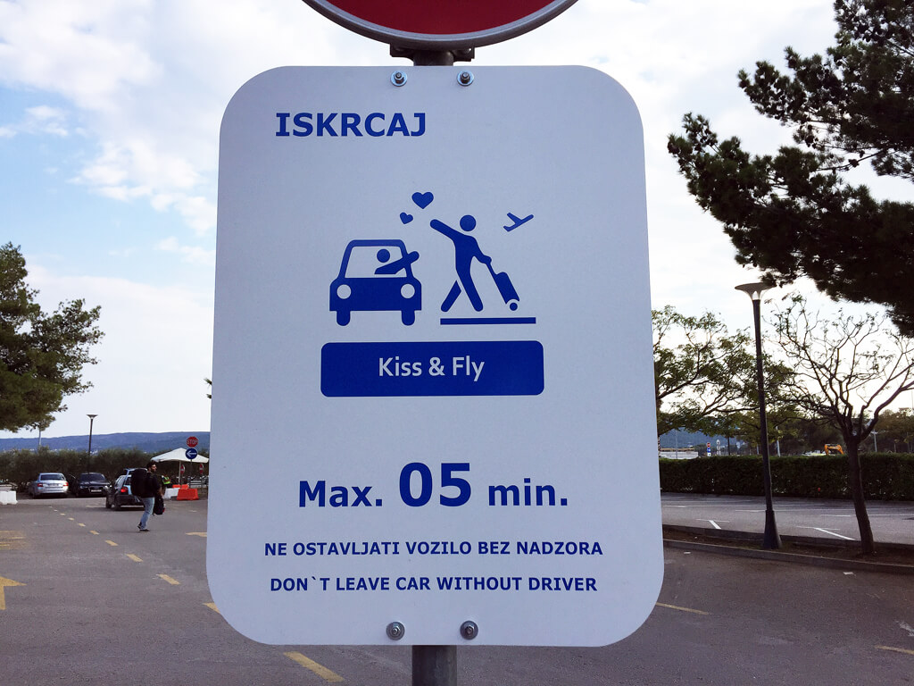 Croatian Kiss and Fly Signs