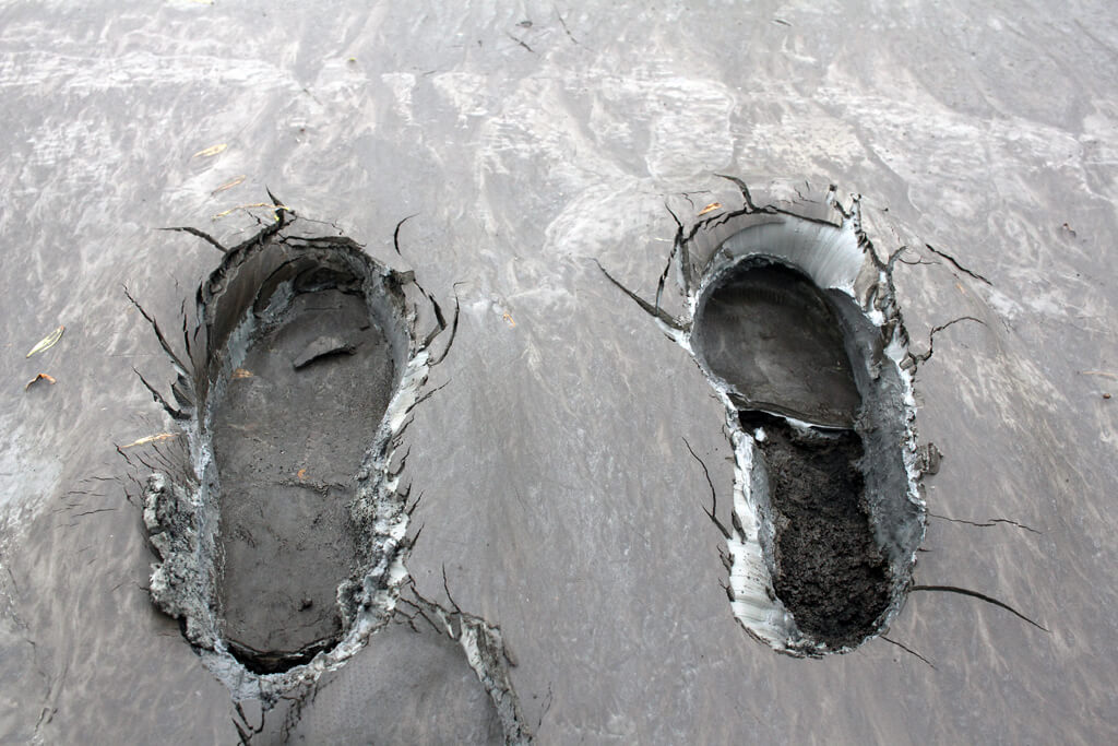 Iceland Moon Shoe Footprints
