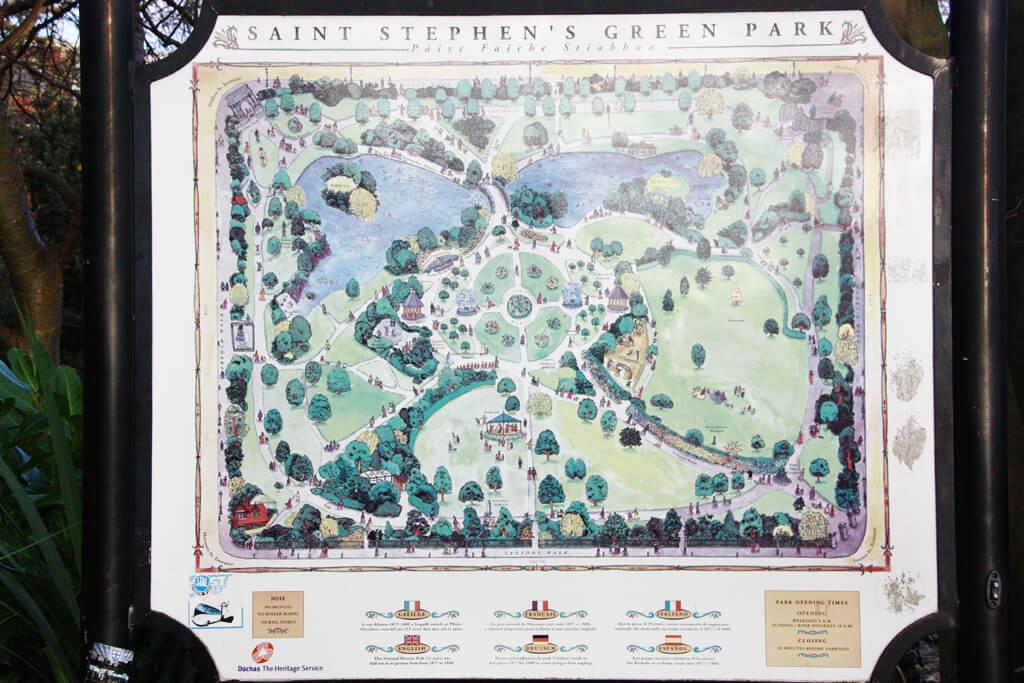 Dublin's St. Stephen's Green Map