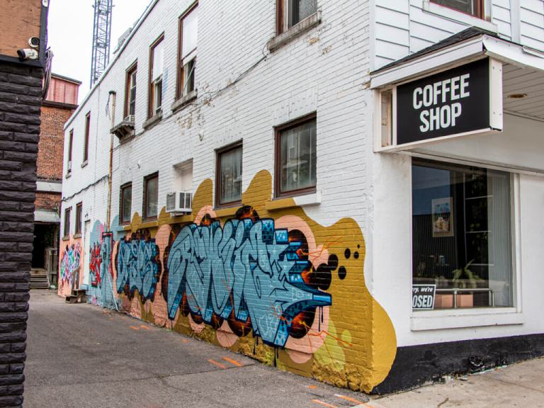 Downtown Kitchener Show & Tell Coffee Murals