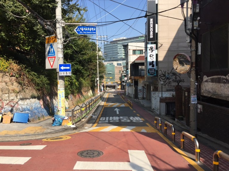 A fun way to learn languages is moving to another country and get lost in city streets like this one in Korea!