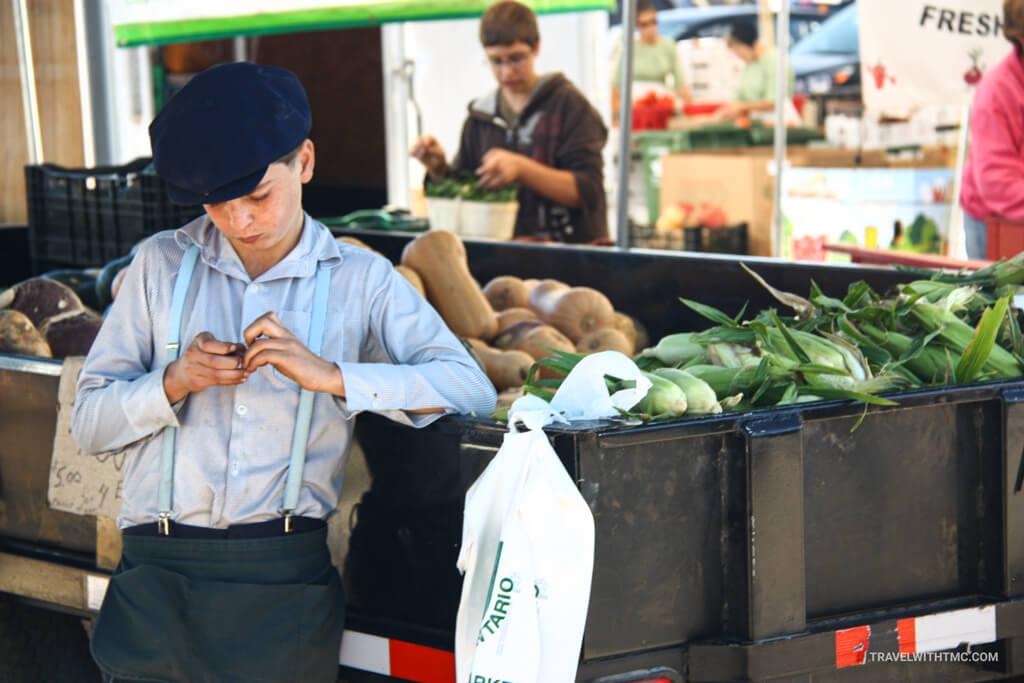 St. Jacobs Market Mennonite Veggie Stall