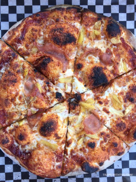 The best pizza in St Jacobs Ontario at Those Pizza Guys - Aloha Cinnamon Pineapple Hawaiian