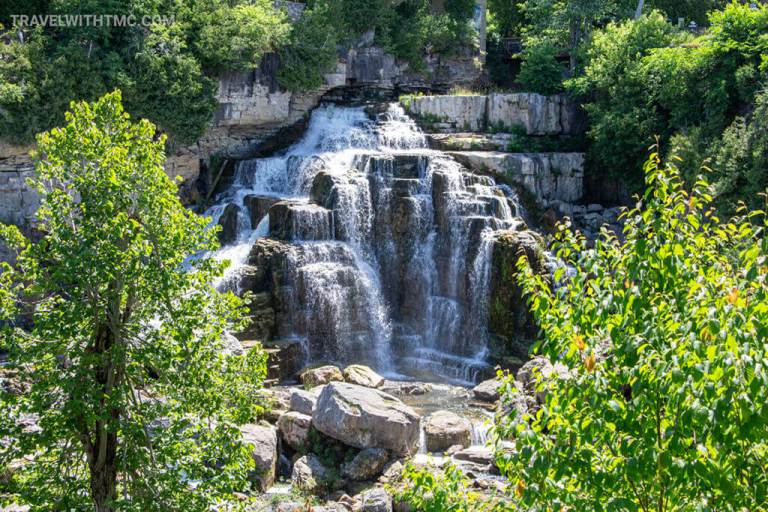 Inglis Falls Conservation Area through the trees