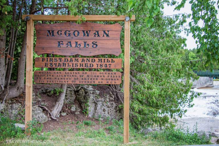 Welcome to McGowan Falls in Ontario Canada