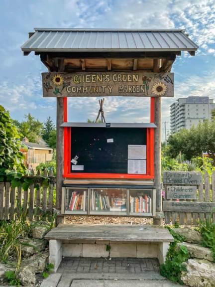 Little Free Library in Downtown Kitchener Queen's Garden