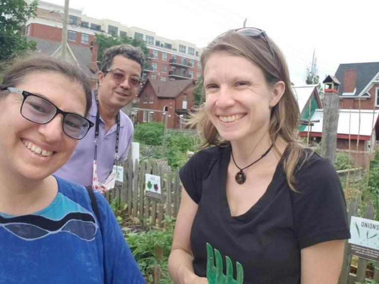 Queen's Green Community Garden Happy Members