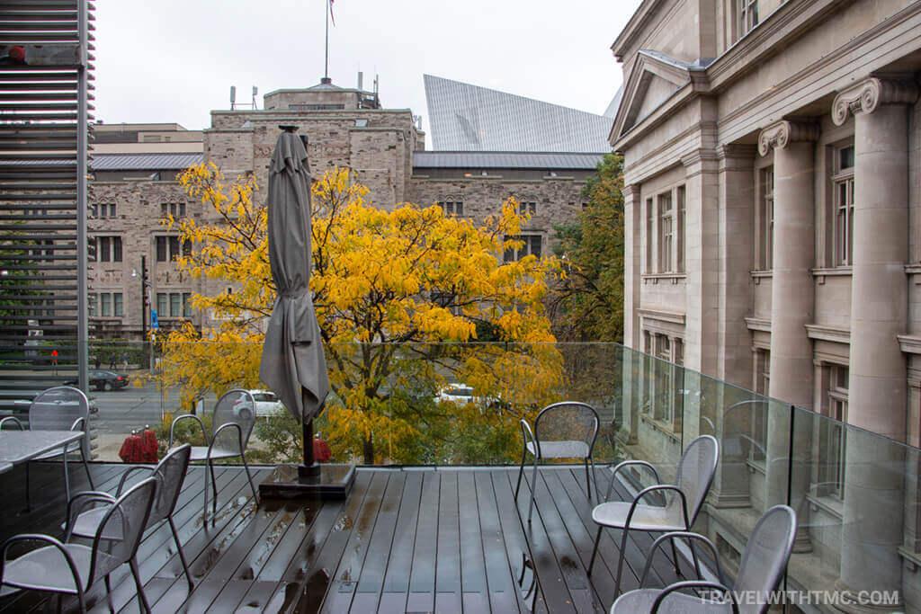 Autumn Patio at the Gardiner Museum in Toronto Ontario Canada
