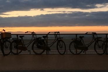 Räder am Meer