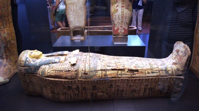 One of the few mummies in the Vatican.