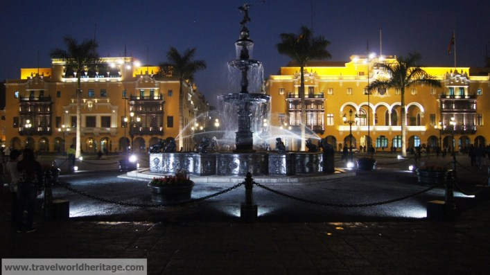 Downtown Lima at Night