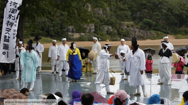 The performance in Hahoe was quite spectacular.