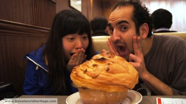 This pastry was simply amazing. This is one of the oldest and best restaurants in Hong Kong.