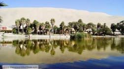 The Huacachina Oasis in Ica, Peru.