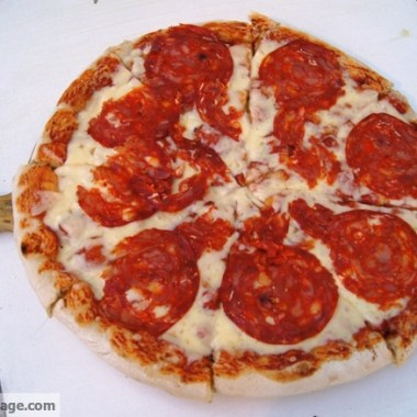 The best pizza I had was in front of the St. Angelo Castle near Vatican City.