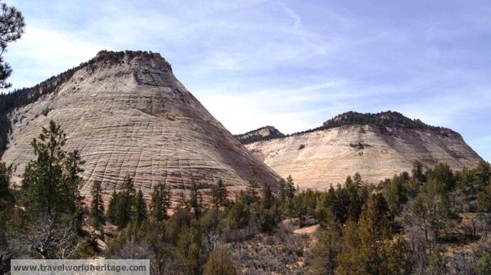 Checker Board Mesa Zion NP - American road trip
