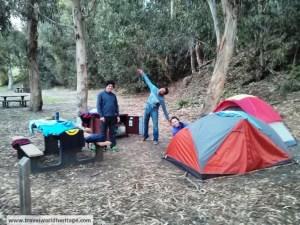 Camping in Santa Cruz island.
